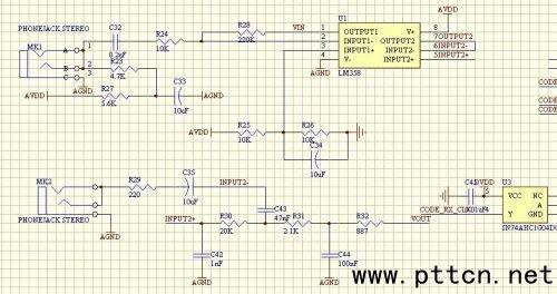 基于pcm3500的语音调制解调放大电路